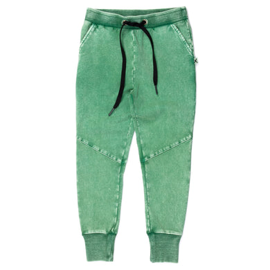 Green Wash Blasted Sliced Trackies