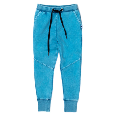 Sky Wash Blasted Sliced Trackies