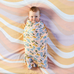 Kip & Co Ripple Cotton Fitted Cot Sheet