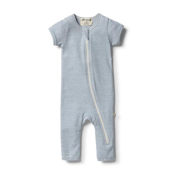 Wilson And Frenchy Organic Strip Rib Zipsuit