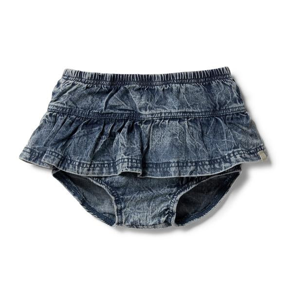 Wilson And Frenchy Denim Ruffle Nappy Pant