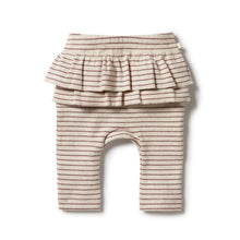 Load image into Gallery viewer, Wilson And Frenchy Organic Rib Ruffle Legging Wild Ginger