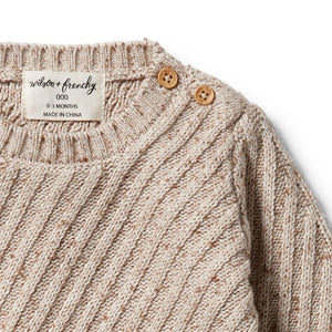 Wilson And Frenchy Knitted Jacquard Oatmeal Fleck