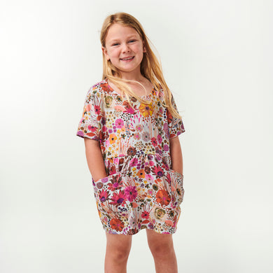 Field of Dreams Kinder Dress - Silver