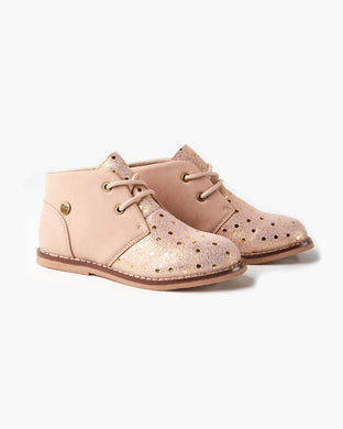 Walnut  Melbourne Beau Boot Dusty Pink Spot