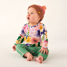 Load image into Gallery viewer, Kip & Co Meadow Colourful Organic LS Romper