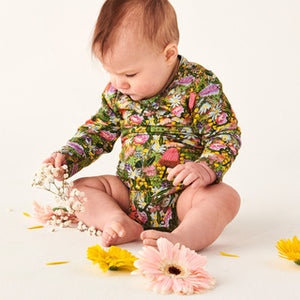 Kip & Co Native Plantation Organic Long Sleeve Romper