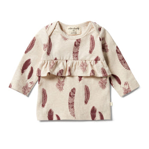 Wilson And Frenchy Falling Fathers Organic Ruffle Top