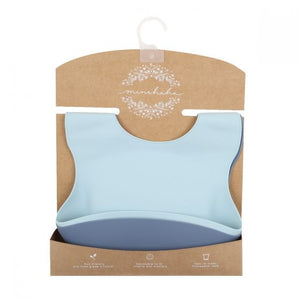 Silicone Bibs 2 Pack Blue Shades