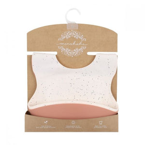 Silicone Bibs 2 Pack Speckle Brick