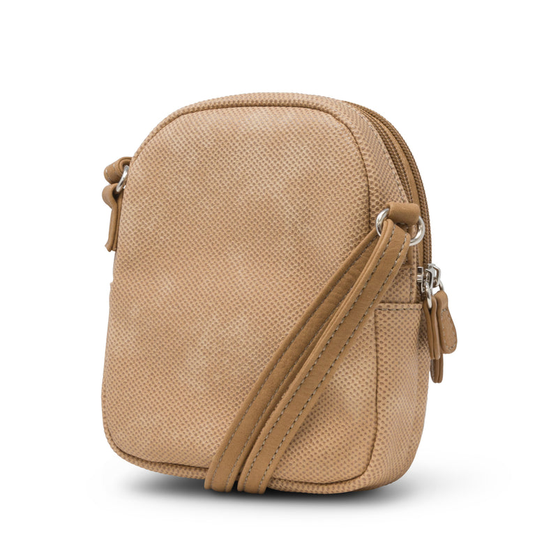 Darien Mini Crossbody Bag - Small Crossbody Bags - Women's Crossbody Bags - Organizer Bag - Multiple Pockets - Washable Bags - Hazelnut Brown