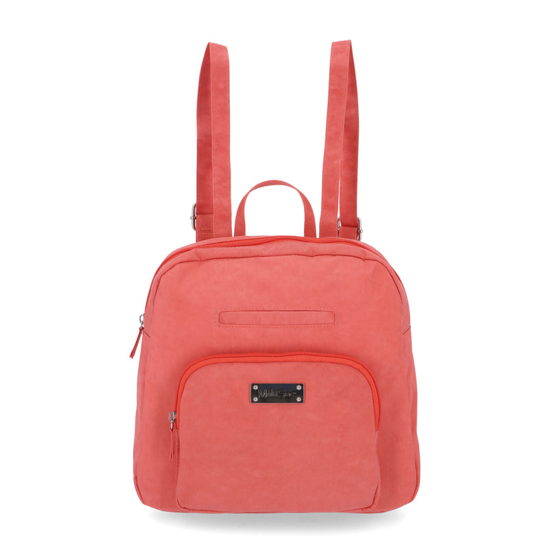 Albany Backpack - Women's Backpacks - MultiSac Handbags - Multiple Pockets - Organizer Backpack- Coral / Red / Pink