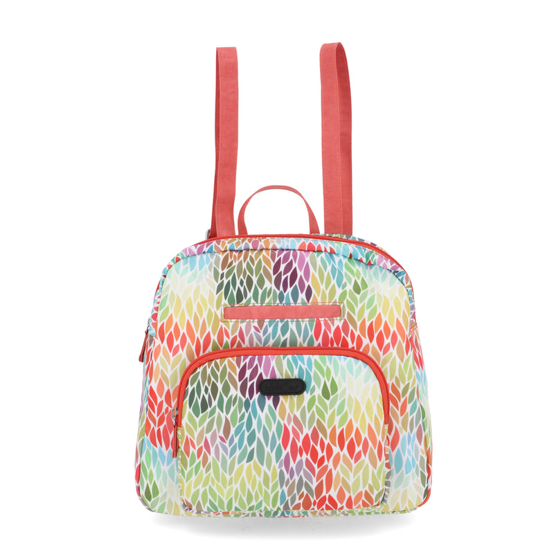 Albany Backpack - Women's Backpacks - MultiSac Handbags - Multiple Pockets - Organizer Backpack- Pedal Pusher Floral / Pink / Multi Color