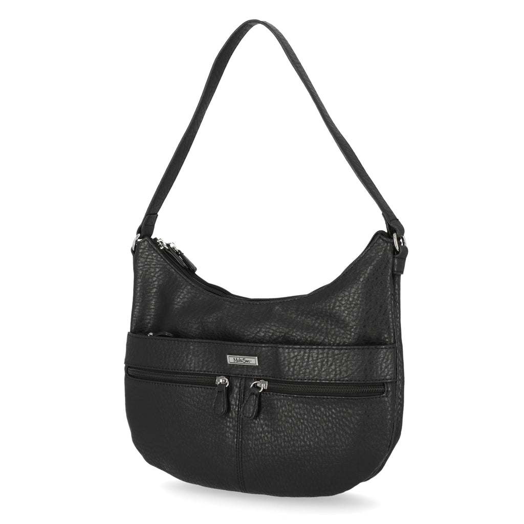 Geneva Hobo Bag - MultiSac Handbags - Women's Shoulder Bags - Multiple Pockets - Organizer Bags - Black Hobo Bag