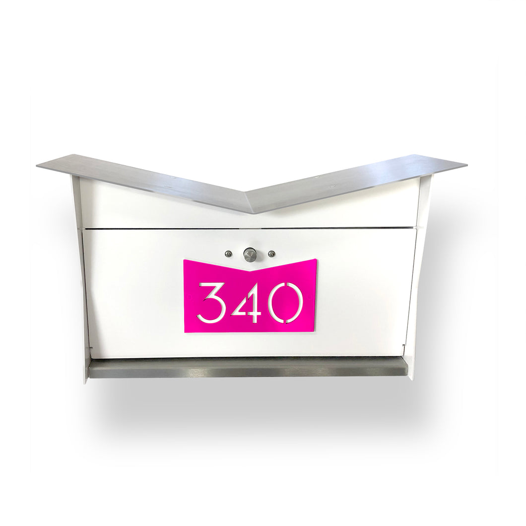 NEW! ButterFly Box in Arctic White and Neon Pink