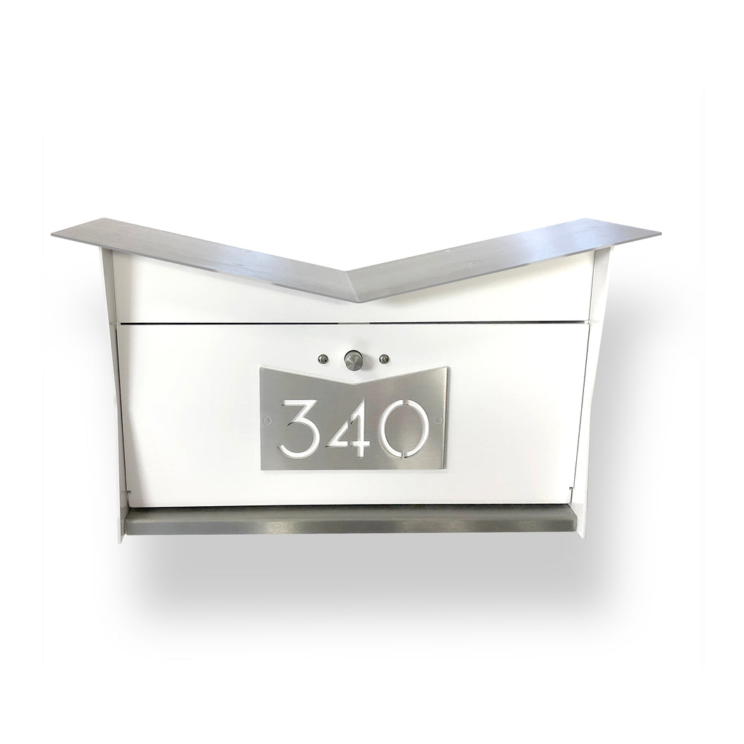 The ButterFly Box in White and Stainless Steel