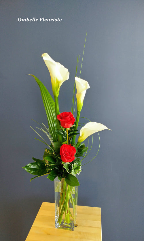 Bouquet calla rose elegant contemporain