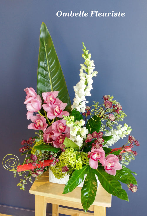 Arrangement floral orchidee muflier design