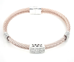 Cable Double Rectangle Bracelet