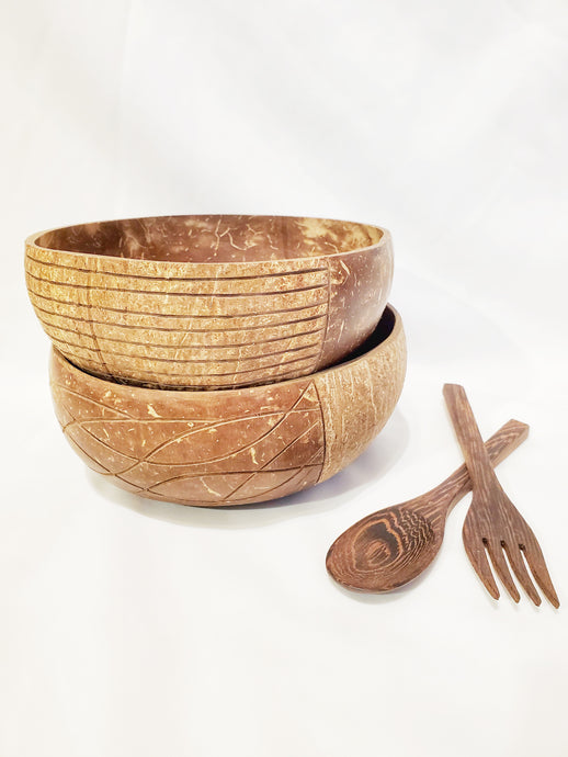 Starter Boho Beach & Journey Coconut Bowl Set
