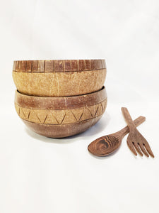 Starter Horizon & Zigzag Coconut Bowl Set