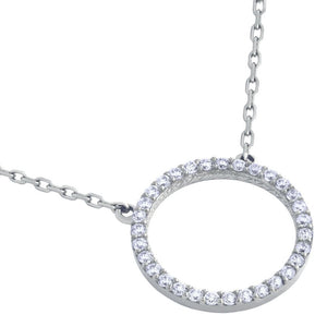 Open Disk Necklace Silver