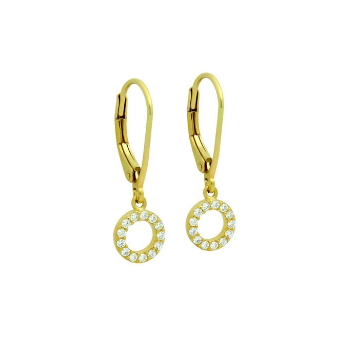 Open Disk Dangle Gold