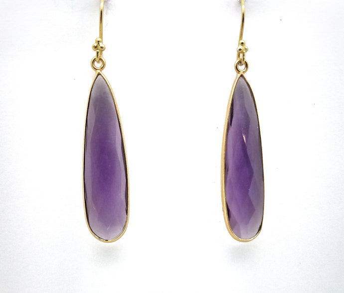 Posh Rocks - Oblong Teardrop Earrings