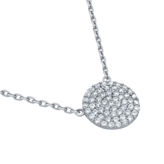 Disk Necklace Silver