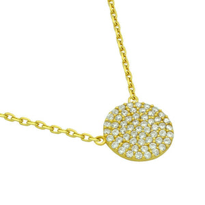 Disk Necklace Gold