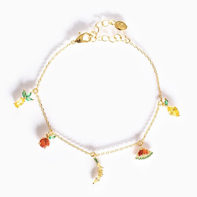 Tropical Fruit Basket Bracelet