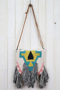 Tribal Fringe Crossbody Purse