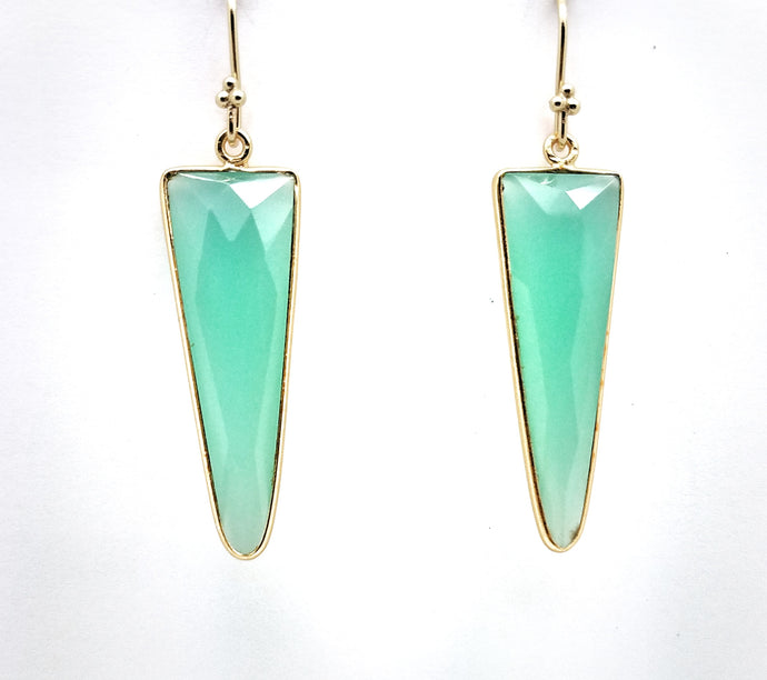 Posh Rocks - Rockstar Triangle Teardrop Earrings