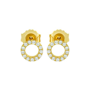 Open Circle Stud Earrings