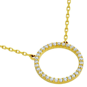 Open Disk Necklace Gold