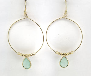Posh Rocks - Hoop & Petite Teardrop Earrings