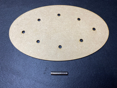 170x105mm MDF Magnetised Base - Single