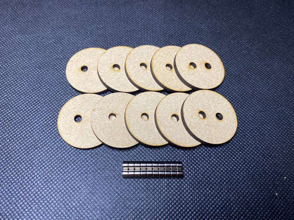 32mm MDF Magnetised Bases - Pack of 10