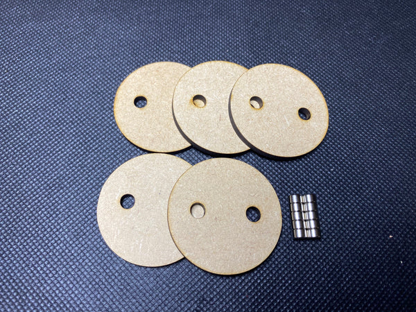 40mm MDF Magnetised Bases - Pack of 5