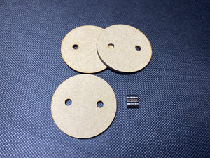 50mm MDF Magnetised Bases - Pack of 3