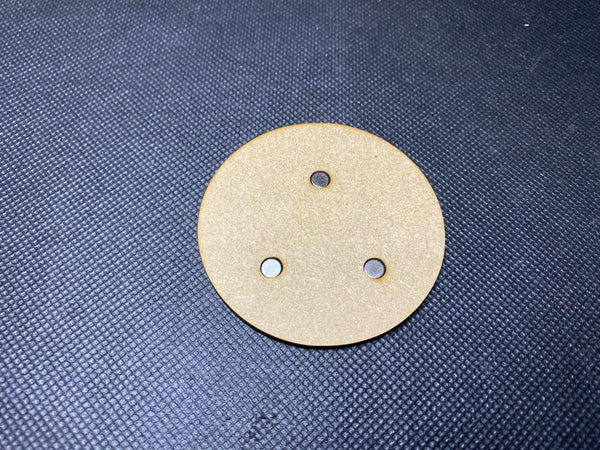 60mm MDF Magnetised Bases - Pack of 3