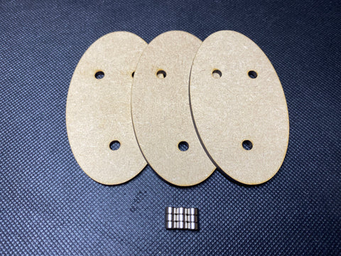 90x52mm MDF Magnetised Bases - Pack of 3