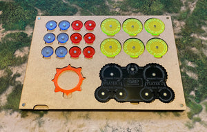 MDF Gaming Tray - Command Dial & Magnetic Objectives