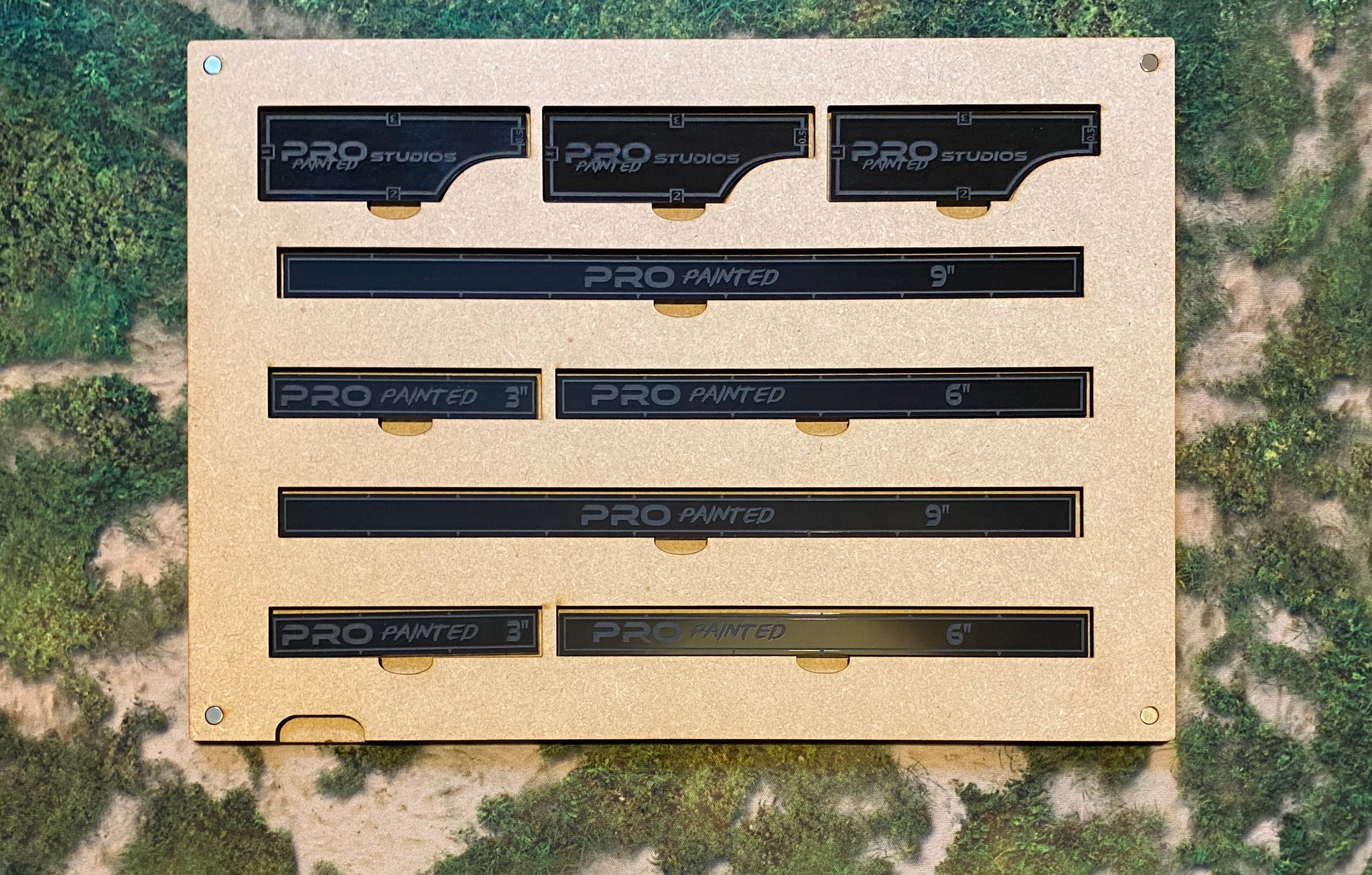 MDF Gaming Tray - 3x Movement Tools & 2x Measuring Sticks Set