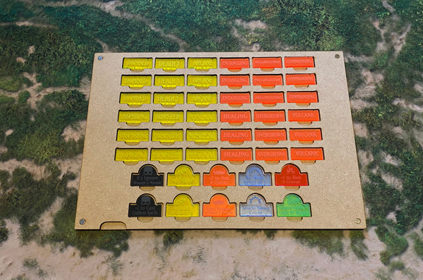 MDF Gaming Tray - Scenery Tokens & Realm Spell Effects