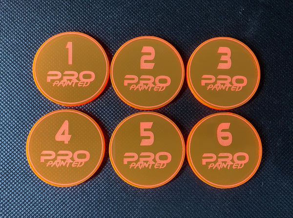 Pro Painted Numbered Objective Tokens (6 pack)