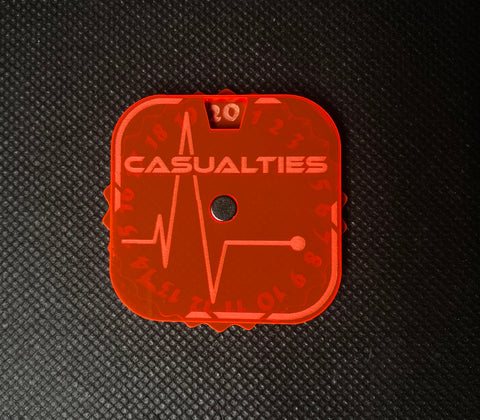 Flatline Casualty Dial - Magnetic Counter (1-20)