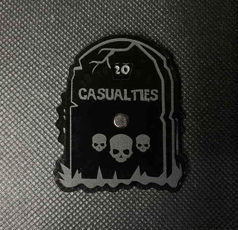 Tombstone Casualty Dial - Magnetic Counter (1-20)