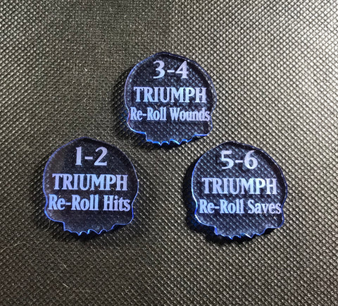 Triumph Reminder Tokens - (3 pack)