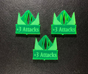 Steel Orcs +3 Attacks Addon Tokens (3 Pack)